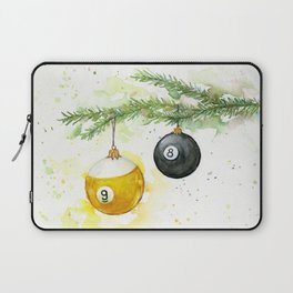 Billiard Pool Balls Christmas Ornaments 8-Ball 9-Ball Laptop Sleeve