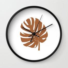 monsterra-cotta Wall Clock