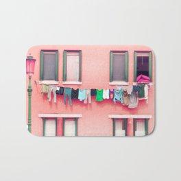 Laundry Venice Italy Travel Photography Bath Mat