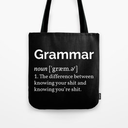 Grammar Definition Tote Bag