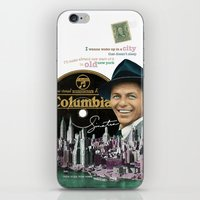 frank sinatra iPhone & iPod Skins featuring Frank Sinatra - New York by Dots Studio