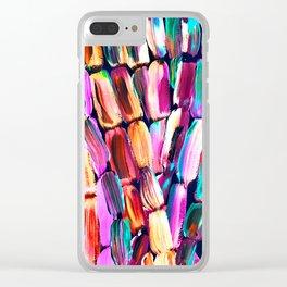 Neon Sugarcane Dark Clear iPhone Case