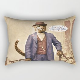 "One Cool Cat: ""Well . . . Hello, kitties!"" Rectangular Pillow"