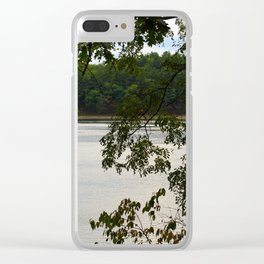 Walden Pond Through the Trees Clear iPhone Case