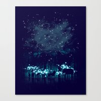 cosmic Canvas Prints featuring Cosmic Safari by dan elijah g. fajardo