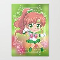 sailor jupiter Canvas Prints featuring Sailor Jupiter by Neo Crystal Tokyo