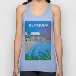 Bermuda - Skyline Illustration by Loose Petals Unisex Tank Top