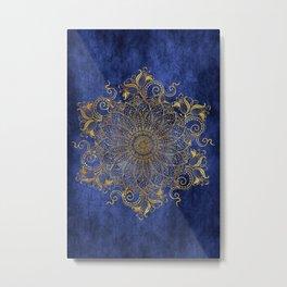 Mandala - Dark ocean Metal Print