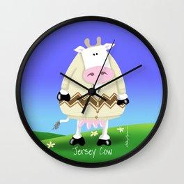 Just 4 Mooo - Jersey Cow Wall Clock