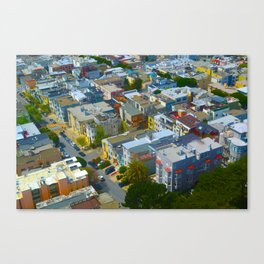 San Francisco Bird's Eye Canvas Print