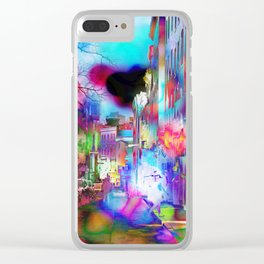Boston Lights Remix Clear iPhone Case