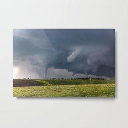 Twins - Two Tornadoes Touch Down Near Dodge City Kansas Metal Print