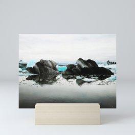 Glacial Lagoon Iceland Mini Art Print
