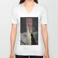 meditation V-neck T-shirts featuring meditation by Ashley Moye