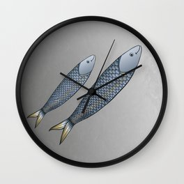 Sardinha Portuguesa Wall Clock