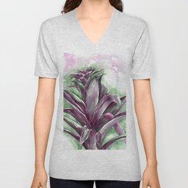 Tropical Bromeliad Unisex V-Neck