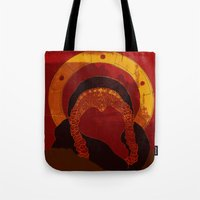 xena Tote Bags featuring Xena : Warrior Princess by LizSchafroth