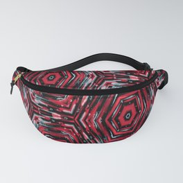 Ethnic ikat pattern.Red and blue. Fanny Pack