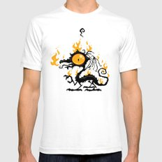 Backfire Mens Fitted Tee White SMALL