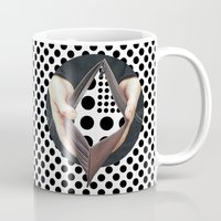 wallet Mugs featuring dots o by marzesu collages