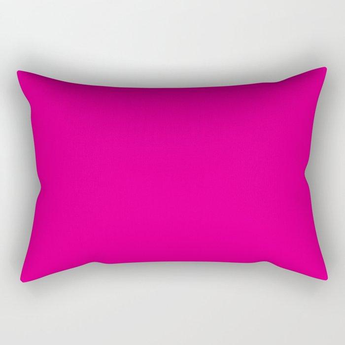 Fuschia Pink Rectangular Pillow