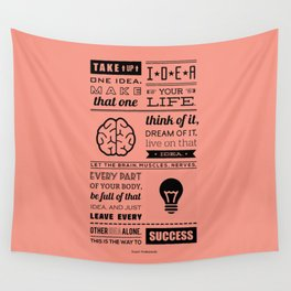 Lab No. 4 - Swami Vivekananda Inspirational Typography Quotes Poster Wall Tapestry