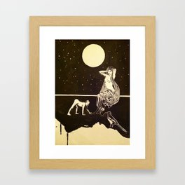 Venus in Furs and the kissing of the boot of shiny shiny leather Framed Art Print