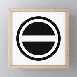 Curtis Holt Logo (Black) Framed Mini Art Print
