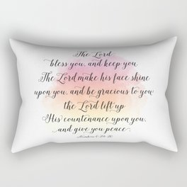 The Lord bless you, and keep you. The Lord make his face shine upon you, and be gracious to you Rectangular Pillow