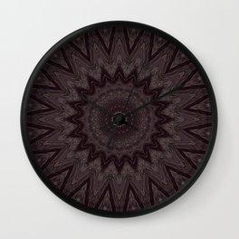Slightly Lighter Abyssmal Mandala Wall Clock