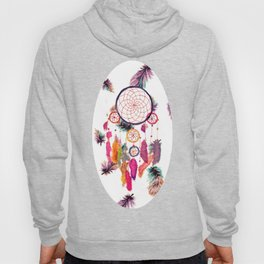 Hipster Watercolor Dreamcatcher Feathers Pattern Hoody