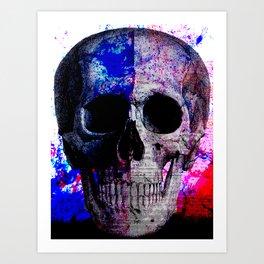 Splatter Skull Art Print