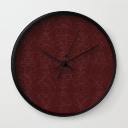 The Hunter and the Trap (Blood Red) Wall Clock