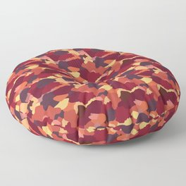 Camouflage in Fall Floor Pillow