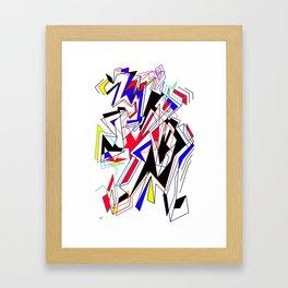 Lines of Mind Framed Art Print