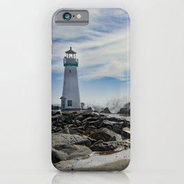Walton Lighthouse Santa Cruz California Photography iPhone Case