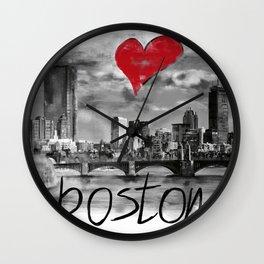 I love Boston Wall Clock