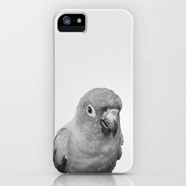 Birds of Paradise - black and white iPhone Case