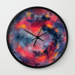 Abstract Texture Digital Painting Wall Clock