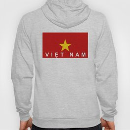 vietnam country flag viet nam name text Hoody