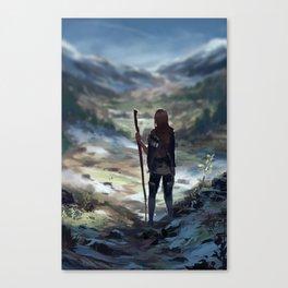 Stick saleswoman goes on an adventure! Canvas Print