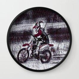 Moto Christmas Wall Clock