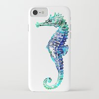 sea horse iPhone & iPod Cases featuring Sea Horse by LebensART