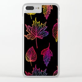 Colorful Autumn Leaf Clear iPhone Case