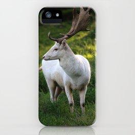 white Deer iPhone Case
