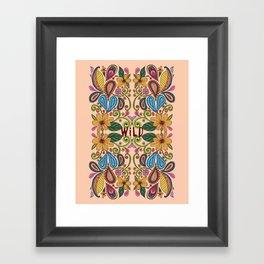 Bohemian Floral Peach version Framed Art Print