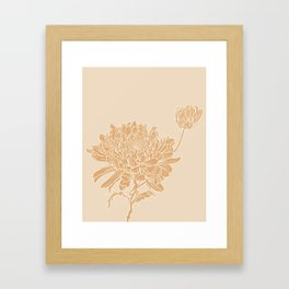 Chrysanthemum Neutrals Framed Art Print