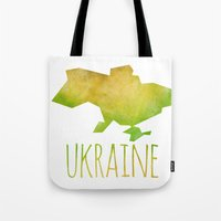 ukraine Tote Bags featuring Ukraine by Stephanie Wittenburg