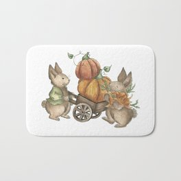 Autumn Rabbit Beatrix Potter Bath Mat