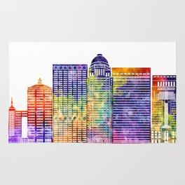 Louisville landmarks watercolor poster Rug